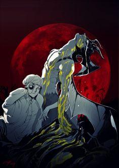 Art of Denimecho Manga Anime, Anime Art, Gold Drawing, Connie Springer, Anime Stories, Crying Man, Devilman Crybaby, Hunter Anime, Bird Drawings