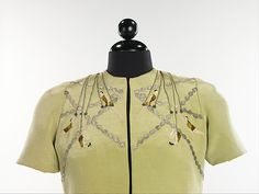 Elsa Schiaparelli (Italian, 1890-1973). Evening ensemble, 1938. The Metropolitan Museum of Art, New York. Brooklyn Museum Costume Collection at The Metropolitan Museum of Art, Gift of the Brooklyn Museum, 2009; Gift of Mrs. V. D. Crisp, 1963. (2009.300.2515a–c)