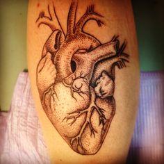 Tattoo  Heart tattoo  Anatomical   Pointillism