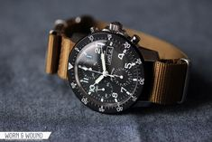 Sinn Flieger 103 St chronograph. 41mm stainless steel case, Valjoux ca. 7750 automatic movement (25-jewel; 28,800 VpH), bi-directional bezel, domed acrylic lens, screw-down crown, chrono second hand, hours/mins/seconds sub-dials, day/date display, 200m WR. SRP $1,880.00.