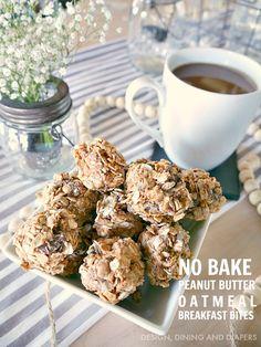 EASY No bake peanut butter oatmeal breakfast bites