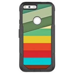 Earth Tone Stripes OtterBox Commuter Google Pixel XL Case - modern gifts cyo gift ideas personalize
