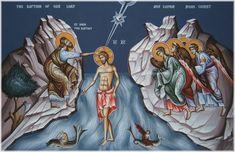 St. John the Baptist and Jesus Orthodox Icon   ... 11; Luke 3:21-22, John 1:32-34, Psalm 2:7; Isaiah 42:1; 2 Peter 1:17