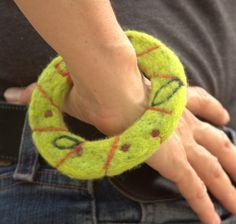 Women's Needle Felted Bangle Bracelet by ArtExposureArizona, $25.00