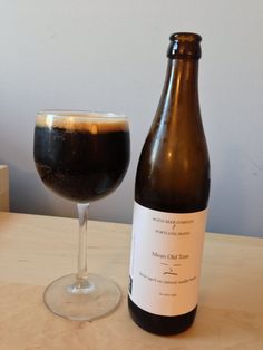 Mean Old Tom, stout aged on vanilla beans. Maine Beer Company.