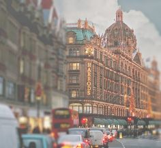 The lights of Harrods, London