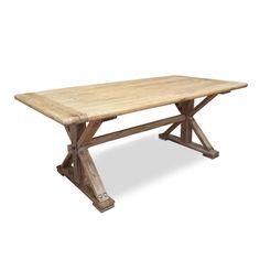 Winston reclaimed elm wood table 3m rustic natural 1
