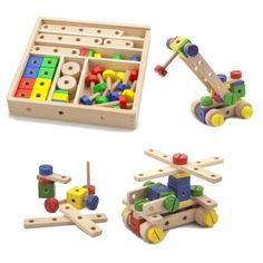 Viga Wooden 53 Piece Model Construction Set