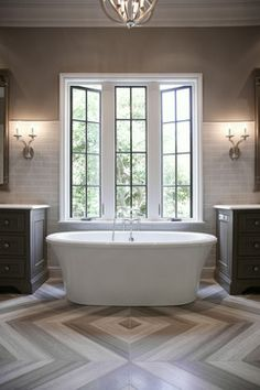 Ladisic House on Stovall - contemporary - Bathroom - Atlanta - Builders Floor Covering & Tile