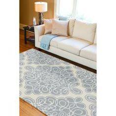 Candice Olson Hand-tufted Cream Cane Geometric Pattern Wool Rug (3'3 x 5'3)