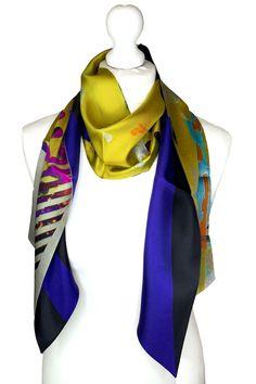 Irish Design, Scarf Design, Neck Scarves, Wearable Art, Sustainable Fashion, Color Splash, Luxury Branding, Vibrant Colors, Cashmere