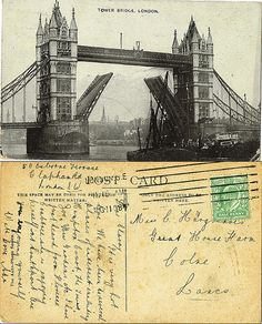 Post Card to Miss Clarisa Hargreaves, Great House Farm, Colne, Lancashire, 1908 Post Card, Genealogy, Louvre, Tower, London, Building, Cards, Travel, Viajes