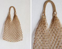 Vintage Il Mercato Rope Bag / Beach Bag