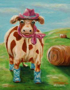 Cowgirl by DyanneParkerArt on Etsy, $325.00
