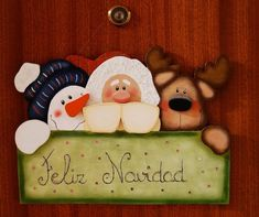 Adornos de Navidad de madera Christmas Wood, Christmas Images, Country Christmas, Winter Christmas, Christmas Holidays, Christmas Wreaths, Christmas Crafts, Merry Christmas, Christmas Ornaments