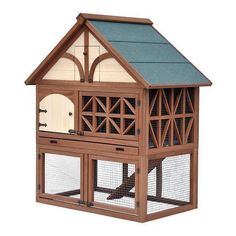 Merry Products Tudor Rabbit Hutch, Brown