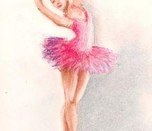 pink ballet drawing