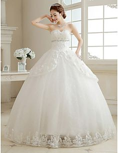 Ball Gown Sweetheart Lace Floor-length Wedding Dress. Get special discounts up to 70% Off at Light in the box using Coupons.