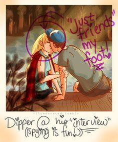 Dipper/Pacifica Polaroid by LittleMsArtsy on DeviantArt This could really be useful in other Gravity Falls seasons