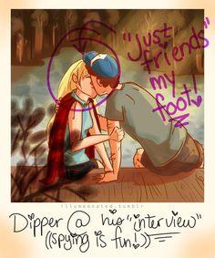 Dipper/Pacifica Polaroid by LittleMsArtsy on DeviantArt