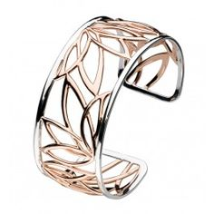 Rose Gold Lotus Cuff - in Sterling Silver and 18ct Rose Gold Plate Love this cuff gorgeous!!!xxx