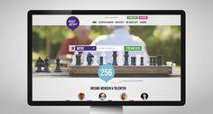 Wens zoekt Talent. Concept en visueel ontwerp website.