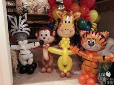 Jungle balloon animals
