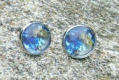 Home sweet earth cabochon earrings £3.50