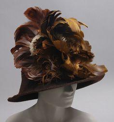 Hat - 1912 - The Philadelphia Museum of Art (via OMG that dress! Jeanne Lanvin, Historical Clothing, Historical Costume, Edwardian Fashion, Vintage Fashion, Edwardian Era, Vintage Outfits, Vintage Hats, Vintage Clothing