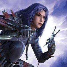 Fantasy girl with Purple Hair