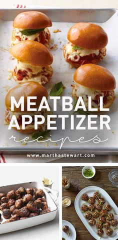 Meatball Appetizer Recipes | Martha Stewart Living - Who can resist a platter of cocktail meatballs? Just break out the toothpicks to get the party started.