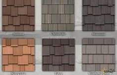 By DaVinci Roofscapes, amaZulu& Faux Cedar Shake Tiles are a multi-width, composite cedar shake roofing material reminiscent of natural cedar shake. Cedar Shake Shingles, Cedar Shingle Siding, Cedar Shakes, House Siding, House Paint Exterior, Exterior Siding, House Roof, Shingles For Roof, Siding For Houses