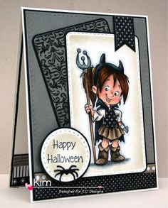 C.C. Designs Roberto's Rascals Devilish Nancy and Cutter Make a Card #4 by Kim O'Connell