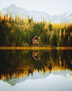 The Alaska life 🍁🍂 Peaceful Places, Beautiful Places, Monuments, Rivers And Roads, Cabins And Cottages, Log Cabins, Destinations, Tiny House Cabin, Autumn Scenery
