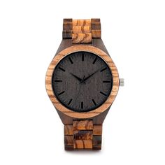 Get your awesome Zebra Wood Case Men Watch today! You get more than OFF TODAY Zebra Wood Case Men Watch is the perfect fit for your outfit and automatical Wooden Case, Wooden Watch, Walnut Wood, Wood Grain, Vintage Men, Watches For Men, Unique Watches, Sport Watches, Bamboo