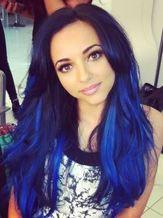 Jade with blue hair