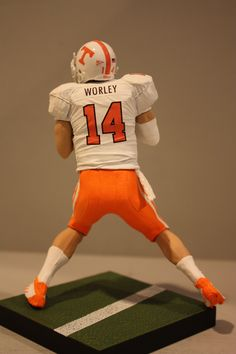 Tennessee Volunteers quarterback Justin Worley. I wish i had my own doll!