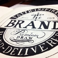 Hand lettering by Brandon Paul, via Behance #typography