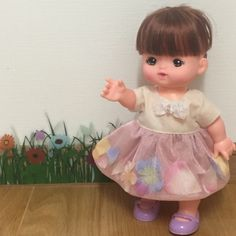 メルちゃん 花びらのワンピース♪の作り方|ソーイング|編み物・手芸・ソーイング|作品カテゴリ|アトリエ Kawaii Doll, Sewing Dolls, Diy Toys, Doll Clothes, Diy And Crafts, Wraps, Flower Girl Dresses, Gift Wrapping, Handmade Gifts