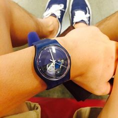 #Swatch BLUE DEPTH swat.ch/1pemee2