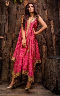 Pakistani Designer Dresses - Lowest Prices - Pink Exclusive Dress by Javeria Zeeshan - Latest Pakistani Fashion