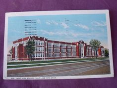 1 of 3: VINTAGE 'WEST HIGH SCHOOL' SALT LAKE CITY UTAH POSTCARD 1924 Used