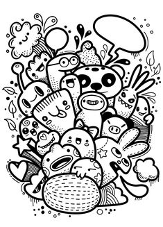 Over 30 trendy monster drawings with doodle artOver 30 trendy monster drawings with doodle artOver 30 trendy monster drawings with doodle artOver 30 trendy monster drawings with doodle artHipster hand drawn crazy doodle monster group, Cute Doodle Art, Doodle Art Letters, Doodle Art Designs, Doodle Art Drawing, Doodle Art Journals, Cool Art Drawings, Art Drawings Sketches, Kawaii Drawings, Crazy Drawings