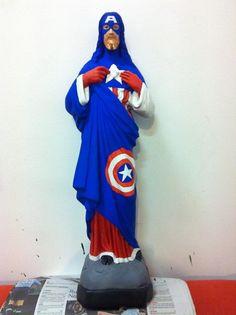 Artist Paints Superhero Costumes on Christian Figures - DesignTAXI.com