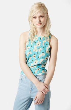 Topshop 'Abigail' Textured Floral Tank available at #Nordstrom