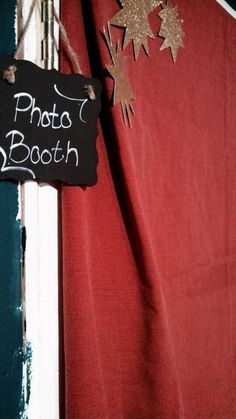 Red carpet themed photo booth