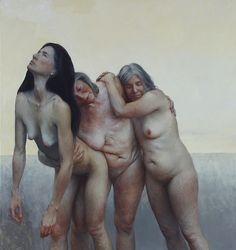 Aleah Chapin, The three graces - Oil on canvas, 76 x 74 inches
