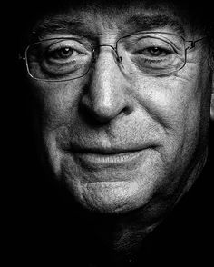Sir Michael Caine, Photo by Clive Arrowsmith. I firmly believe that, if we ever met, he and I would be best friends. Hollywood Icons, Hollywood Actor, Classic Hollywood, Films Cinema, Looks Black, Celebrity Portraits, Black And White Portraits, British Actors, Best Actor