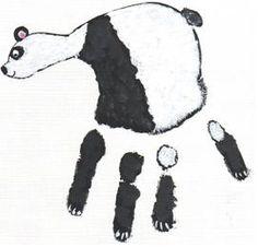 Panda handprint