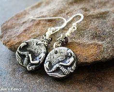 Mermaid Jewelry Metallic and Black Mermaids Sterling by JensFancy, $22.00